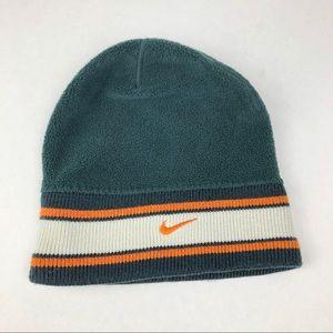Nike Green w/ Orange & White Stripe Beanie OS